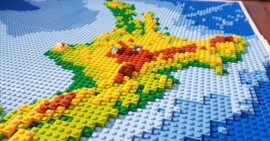 New Zealand LEGO Map